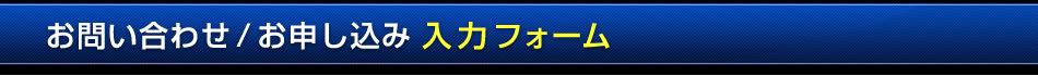 お問い合わせ/お申し込み 入力フォーム